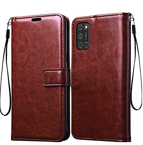 MobileCase for Oppo A52, Leather Wallet Case Magnetic Closure with Kikstand &...