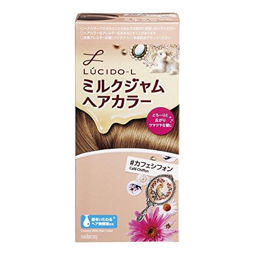 LUCIDO-L(ルシードエル)ミルクジャムヘアカラー#カフェシフォン(医薬部外品)(1剤40g2剤80mLTR5g)