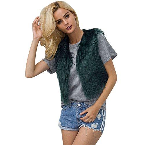 Vrouwen Faux Bont Vest Jas Dikke Gilet Vintage, Dames Mouwloos Winter Lichaam Warm Shrug Jas Korte Waistcoat Bovenkleding Sweater Plus Size