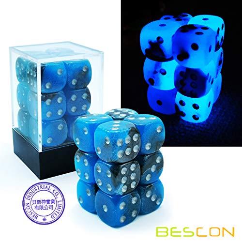 D100/Die 100/Face Cube 100-sided Cube de couleur bleue D100/Jeu d/és Bescon Poly/édrique d/és 100/Faces d/és