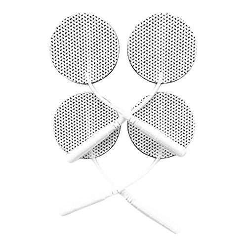 20 Stück selbstklebende Elektroden von der Marke ZEN-QI, Ø 32 mm. Wiederverwendbar. Für TENS TIMS EMS Reizstrom-Geräte mit 2 mm-Stecker-Anschluss.