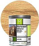 Barniz Madera Exterior | Bio-based Wood Stain | 1 L | Barniz ecológico para todo tipo de madera | Pintura madera exterior | color Natural |Flexible y transpirable, resistente al agua y al moho