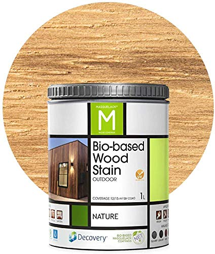 Barniz Madera Exterior   Bio-based Wood Stain   1 L   Barniz ecológico para todo tipo de madera   Pintura madera exterior   color Natural  Flexible y transpirable, resistente al agua y al moho