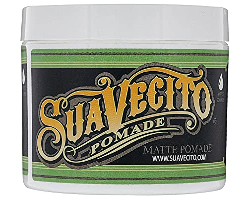 Suavecito Pomade Matte (Shine-Free) Formula 4 oz, 1 Pack - Medium Hold Hair Pomade For Men - Low Shine Matte Hair Paste For Natural Texture Hairstyles