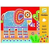 Djeco Manualidad Infantil Arte MOSAICOS Elefante y Caracol. Niños de 4 a 8 Años