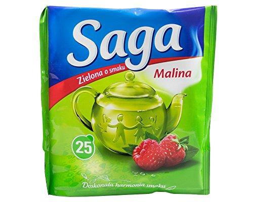 Saga Grüner Tee mit Himbeere 25 Beutel