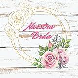 Libro de visitas boda: Libro de firmas, recuerdos y huellas de invitados boda original - Regalo o detalle novios. Español