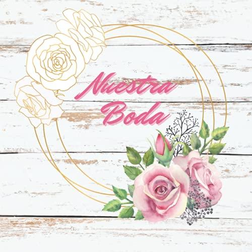 Libro de visitas boda: Libro de firmas, recuerdos y huellas de invitados...