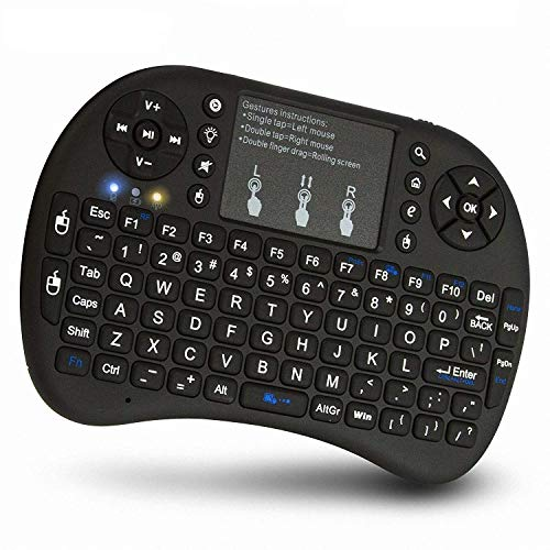 VIBOTON Mini Wireless Keyboard with touchpad without backlit Gaming Qwerty Handheld Keyboard for Android Smart Tv,Android Box,Laptop,Computer etc.