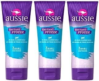 Aussie Instant Freeze Sculpting Gel 7 oz. Maximum Hold (Pack of 3) by Aussie