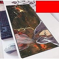 拡張ゲーミングマウスパッド1パンチマン大型マウスマットキーボードマットコンピュータデスクトップ用延長マウスパッド PC.ラップトップマウスパッド(カラー:E、サイズ:800×300×3mm)