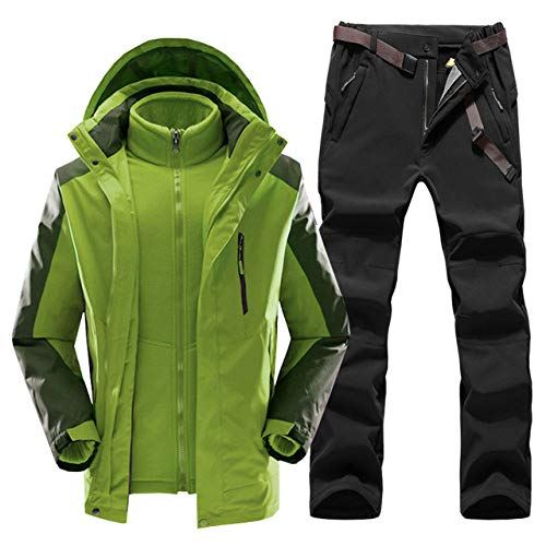 XFCMCP Ski Suit Heren Winter Warm Fleece Winddicht Waterdicht Outdoor Sport Sneeuw Ski-jas en Broek Ski-uitrusting Snowboard Jas