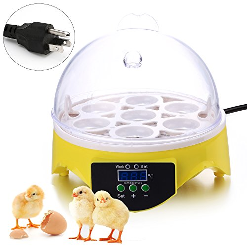 Egg Incubator Noeler Digital Incubators for Chicken Duck Goose Quail Birds Fertile Eggs for Hatching (7 Egg Incubator)