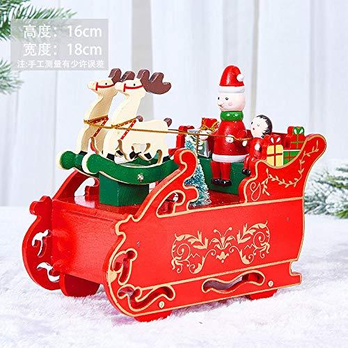 Humeng Decorazioni Natalizie Carillon Da Regalo Creativo Di Natale Cervo Carrello Carillon Regalo Carillon Di Natale Ornamenti Di Decorazione Desktop @ Carro Cervo Carillon