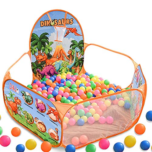 Yunhigh-uk Baby's Ball Pit for Outdoor Indoor, Kids Play Tent Ball Pool with Mini Basketball Hoop and Storage Bag, Garden Folding Game Pool Portable for Boys Girls Toddlers