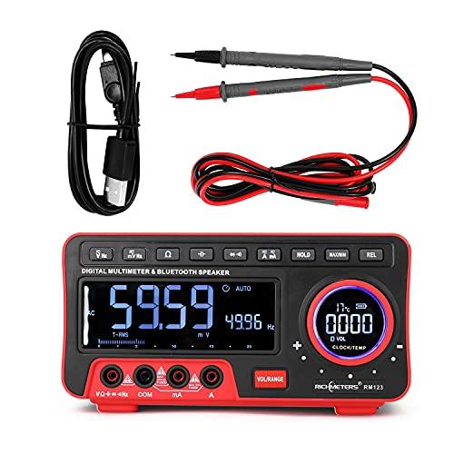CENPEN Richímetros AN888S Multímetro digital de alta precisión 19999 Cuenta medidor multifuncional de frecuencia multimétrico de audio BT (Color : Type 2)