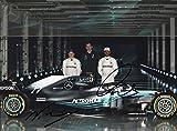 Fotodruck mit Autogramm von Lewis Hamilton, Valtteri