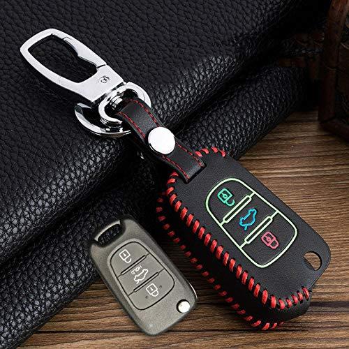 ZYTN Für Neue Hand Nähen Leuchtende Autoschlüssel Fall Für Kia Sid Rio Seele Sportage Ceed Sorento Cerato K2 Für Hyundai Solaris Key Shell,B-rot