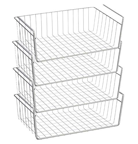 WANDOFO 5-Tier Shelving Metal Storage Rack, Metal Wire Shelving Unit,Adjustable Shelves with 5 PP Sheets,for Laundry,Bathroom,Kitchen Pantry Closet,Silver