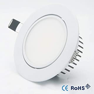 Hone+Love+L Luz De Techo Led 3W5W 7W 12W Dimmable Led DownlightCOB Ceiling Spot Light 110V 220VRecessed Lights Indoor Lighting Fixture withLed Driver-Natural_White_12W_Dimmable