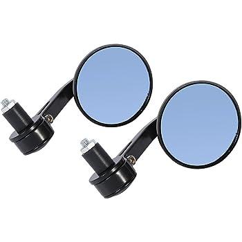 espejo retrovisor para moto o scooter default dorado Kimiss 1 par 7//8 en manillar redondo con barra retrovisor Espejos retrovisores universales para moto
