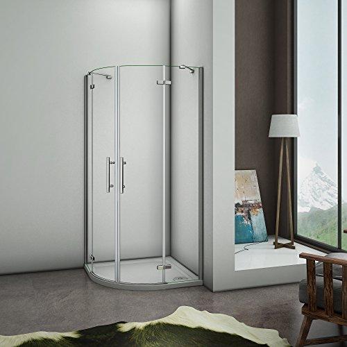 Puerta de ducha Semicircular Esquinal, Mampara de Ducha Apertura de puerta Abatible Curvo...