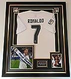 Maglietta firmata e incorniciata di Cristiano Ronaldo, Real Madrid