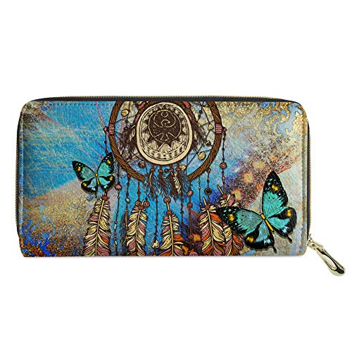 Biyejit atrapasueños mariposa mujer cartera lindo perezoso flor árbol monedero embrague caja del teléfono móvil regalo para niñas