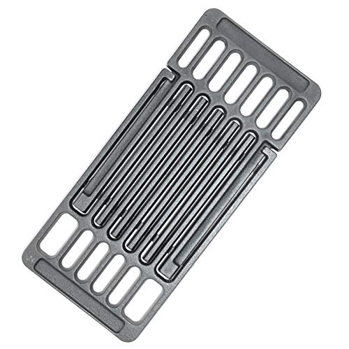 Hongso Extension Cast Iron Cooking Grate Adjustable Grill Grid Replacement for BBQ Grills Gas Eletric Grills, Universal Cooking Grids Extend from 14' up to 20' L, PCB001