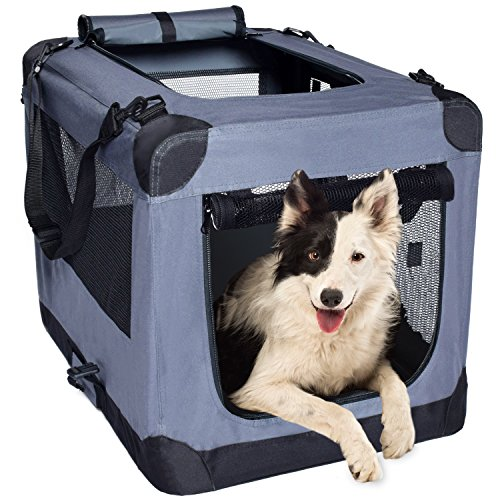 Arf Pets Dog Soft Crate 36 Inch Kennel for Pet...