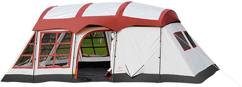HPSD Zelt im Freien Zwei Zimmer, EIN Flur, Zelt, Outdoor-Camping, regendicht, 8 Personen, 10 Personen, 12 Personen, Zwei Zimmer, EIN Flur, Mehrpersonen (rot)