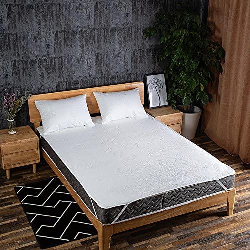 Funda de colchón Anti chinches, Transpirable, Colcha de sábana Impermeable de Color puro-140x200cm