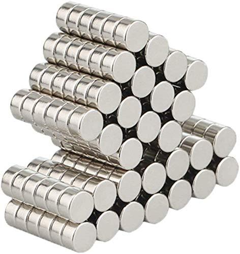 Wukong 105 piezas Imanes de nevera de cilindro de neodimio N52 (6 * 3mm) multiusos Junta de borrado en seco imanes imanes de oficina resistente imanes para nevera/puerta/pizarra/mapa/protector de