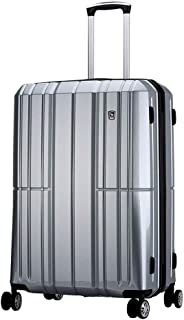 WHPSTZ Suitcase Suitcase Airplane Wheel Travel Large Capacity Luggage Lock Pure PC Computer Trolley Case Waterproof Seal Trolley case (Color : Silver, Size : 38x23x58cm)