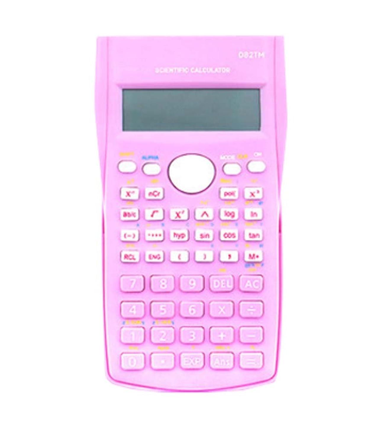 楽観突進ジョグ科学電卓、エンジニアリング電卓 - 事務用品、ピンク