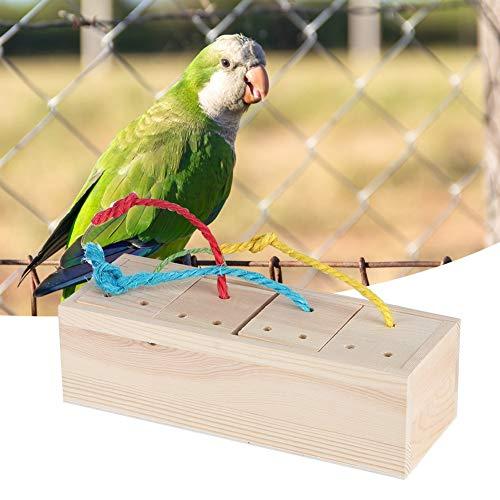 ●Geschenk für Weihnachten●Wooden Bird Feeder, Durable Bird Educational Feeder, für Papagei für Wildvögel(Length 21*Width 8*Height 6Cm (net Weight 380G))