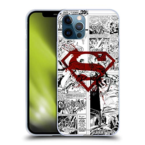 Head Case Designs Licenciado Oficialmente Superman DC Comics Splatter Logo Rojo Arte del cómic Carcasa de Gel de Silicona Compatible con Apple iPhone 12 / iPhone 12 Pro