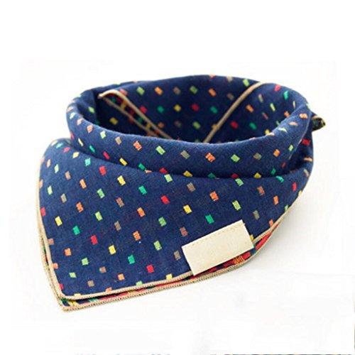 Liuyu · Maison de Vie Bavoirs Serviette Triangle Baby Printemps Eté Enfant Turban (Couleur : Bleu, Taille : 1 Set)