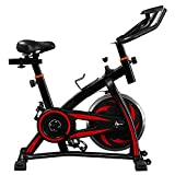 Indoor Cycling Exercise Bike, Training Fitness Cardio Spin Bike with LCD Console, 10 KG Flywheel, 8 Level Resistance, Studio Cycles Exercise Machines with Adjustable Handlebars and Seat【UK STOCK】