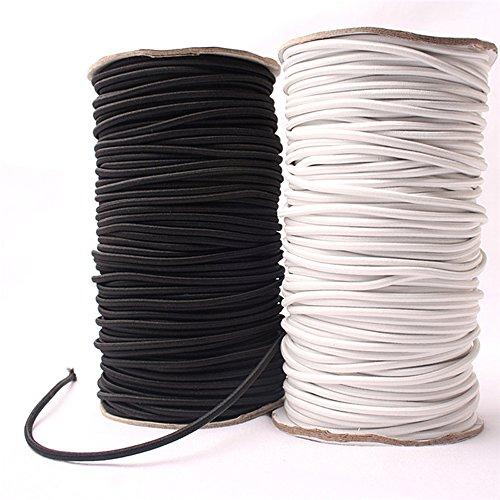 Bungee-Seil, Gummizug, 4mm x 10Meter, zur Anfertigung von Schmuck, robustes Seil Schwarz