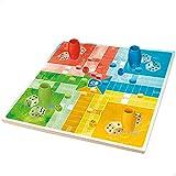 ColorBaby 49348 - CB Games-Juego parchis / oca 25x25cm Madera