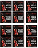 Vizcaya 2 Packs Full Sets Violin String (G-D-A-E) for 4/4-3/4 Size Beginner,Student Violin Replacement,Extra 4 string(E1,A2,E1,A2)