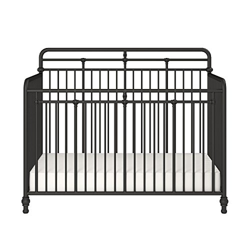 Little Seeds Monarch Hill Hawken 3 in 1 Convertible Metal Crib, Black
