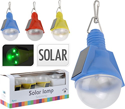 Trendfinding 4 x LED Solarlampe Solar Lampe Leuchte Partyleuchte Gartenlampe Gartenleuchte grün