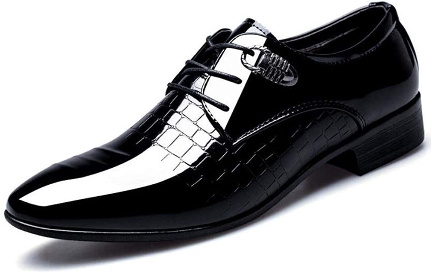 FuweiEncore Men's Leather shoes Spring Fall Formal shoes Pointed Toe