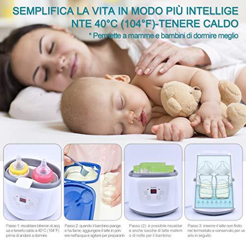 Baby Bottle Warmer Flaschenwärmer Flaschen Sterilisator 4 -in -1 Intelligenter Flaschenwärmer und Baby-Lebensmittel-Heizungsgerät für Muttermilch oder Babymilchpulver mit LCD-Echtzeit Anzeige Schnelle Erwärmung und genaue Temperaturkontrolle - 3