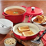 3-Piece Porcelain Cast Iron Starter Set, Delicious Red from Montgomery Ward