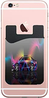 Two Adhesive Phone Stick On Wallet & RFID Blocking Sleeve,Bentley Startech Super Abstract Aerography Universally fits most Cell Phones & Cases,Ultra-slim,Tall Pocket Totally Covers Credit Cards & Cash