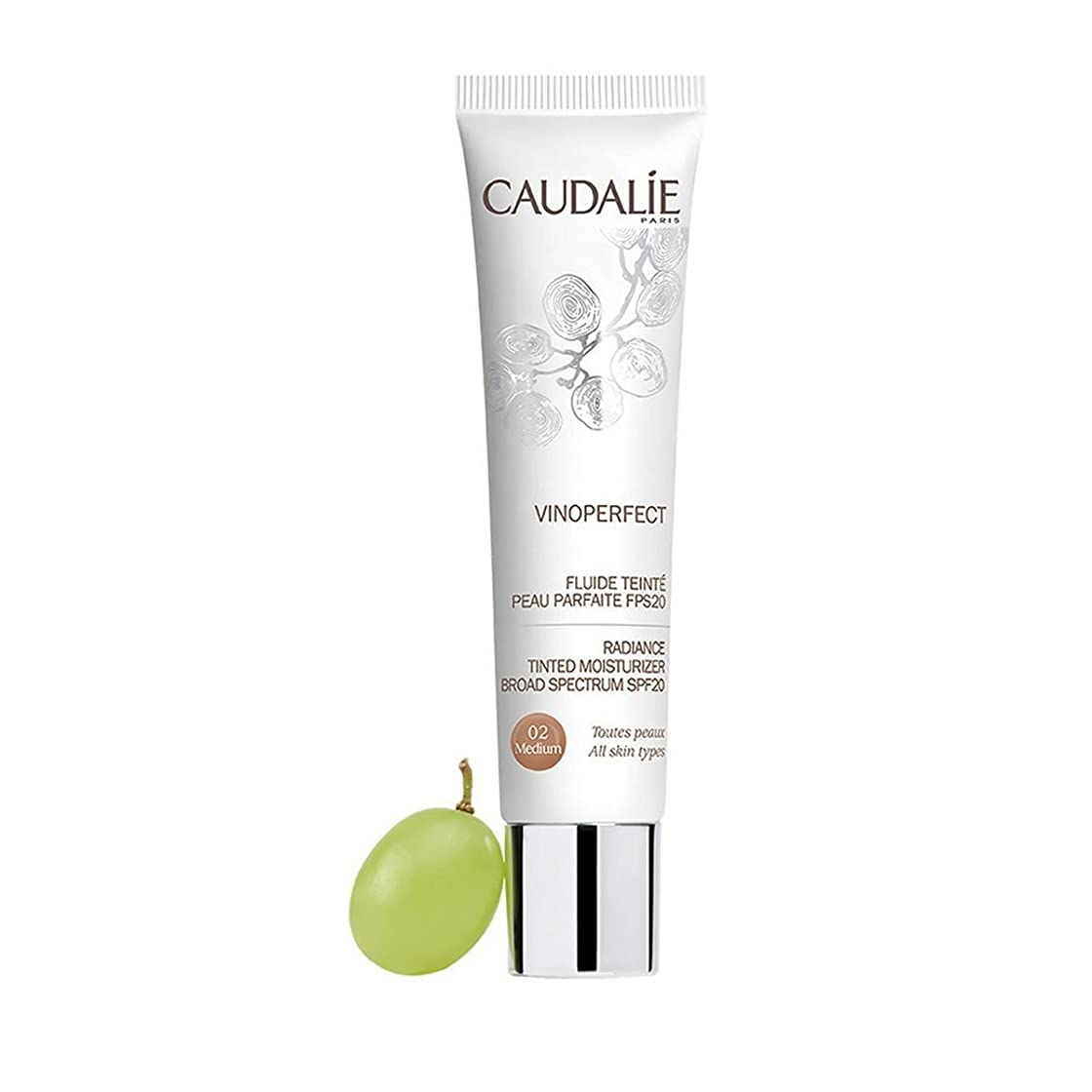 上に築きますきれいにインタネットを見るCaudalie Vinoperfect Radiance Tinted Moisturizer Broad Spectrum Spf20 Medium 40ml [並行輸入品]