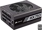 Corsair HX750 - Fuente de Alimentación (Completamente Modular, 80 Plus Platinum, 750 Watt, EU)